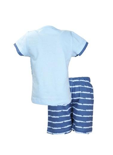 Mininio Mavi Croc T-Shirt ve şort Takım (0-24ay) Mavi Croc T-Shirt ve şort Takım (0-24ay) Mavi